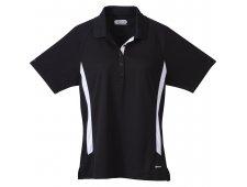 Mitica Women's Short Sleeve Polo Shirt w/ Contrast Side Panel